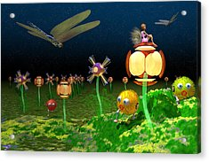 Fantasy Garden Acrylic Print by Carol and Mike Werner
