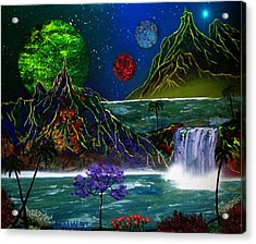 Fantasy Planets Acrylic Print by Michael Rucker