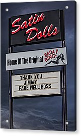 Farewell Boss Acrylic Print by Susan Candelario