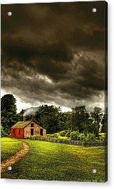 Farm - Barn - Storms A Comin Acrylic Print by Mike Savad