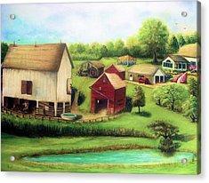 Farm Acrylic Print by Bernadette Krupa