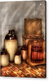 Farm - Bottles - Let's Make Some  Apple Juice Acrylic Print by Mike Savad