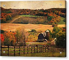 Farm Country Autumn - Sheldon Ny Acrylic Print by Lianne Schneider