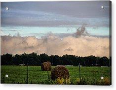 Farm Field Drama Acrylic Print by Dan Sproul