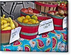 Farm Fresh Produce At The Farmers Market Acrylic Print by JW Hanley