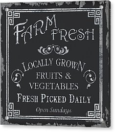 Farm Fresh Sign Acrylic Print by Debbie DeWitt