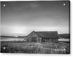 Farm In Black And White Acrylic Print by Twenty Two North Photography