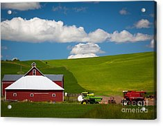 Farm Machinery Acrylic Print by Inge Johnsson