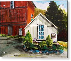 Farm Store Acrylic Print by John Williams