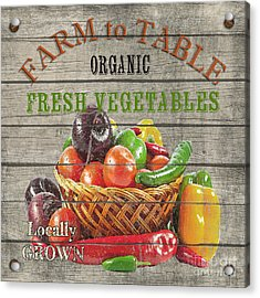Farm To Table Vegetables-jp2632 Acrylic Print by Jean Plout