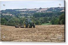 Farm Tractor Acrylic Print by John Williams