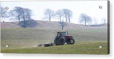 Farm Tractor Acrylic Print by Stefan Petrovici