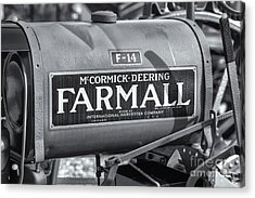 Farmall F-14 Tractor II Acrylic Print by Clarence Holmes