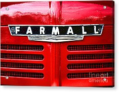 Farmall Acrylic Print by Olivier Le Queinec