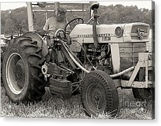 Farmer And His Tractor Acrylic Print by Kathleen Struckle