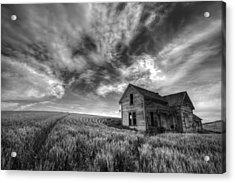 Farmhouse B And W Acrylic Print by Latah Trail Foundation