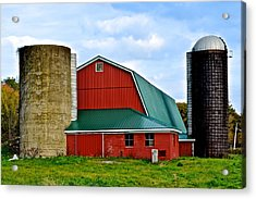 Farming Acrylic Print by Frozen in Time Fine Art Photography