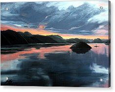 Farsund Sunrise Acrylic Print by Janet King