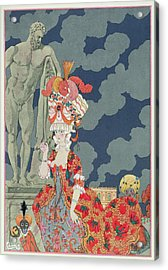 Fashion At Its Highest Acrylic Print by Georges Barbier