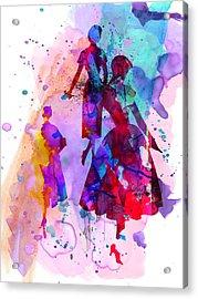 Fashion Models 6 Acrylic Print by Naxart Studio