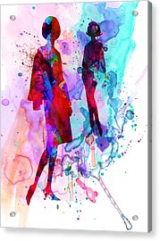 Fashion Models 8 Acrylic Print by Naxart Studio
