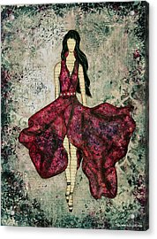 Fashionista Mixed Media Painting By Janelle Nichol Acrylic Print by Janelle Nichol