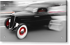 Fast Ford Hot Rod Acrylic Print by Phil 'motography' Clark