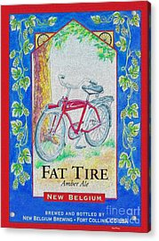 Fat Tire Acrylic Print by Cheryl Young