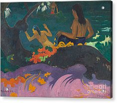 Fatata Te Miti  Acrylic Print by Paul Gauguin