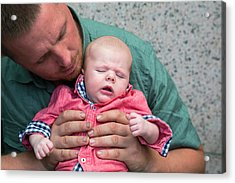 Father And Baby Son Acrylic Print by Jim West
