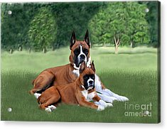 Father And Daughter Acrylic Print by Linda Gleason Ritchie
