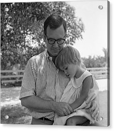 Father Comforting Young Daughter Acrylic Print by H. Armstrong Roberts/ClassicStock