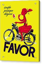 Favor Lipstick 1950 Acrylic Print by Mark Rogan