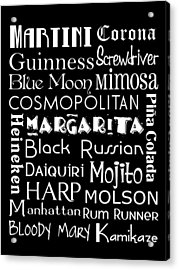 Favorite Drinks  Acrylic Print by Jaime Friedman