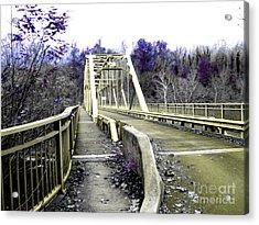 Fayette Station Bridge Acrylic Print by Amy Sorrell