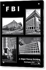 Fbi Poster Acrylic Print by Olivier Le Queinec