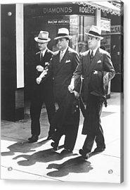 Fbi Trio In Miami. L-r Inspector E.j Acrylic Print by Everett