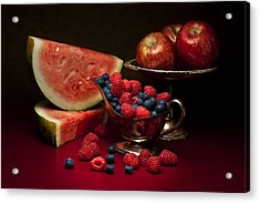Feast Of Red Still Life Acrylic Print by Tom Mc Nemar