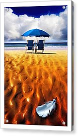 Feather Light Acrylic Print by Mal Bray