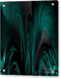 Feathers And Flow Acrylic Print by Patricia Kay