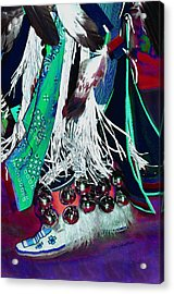 Feathers Fringe And Bells Acrylic Print by Kae Cheatham