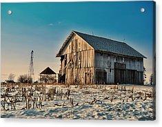 February Barn Acrylic Print by Mark Orr