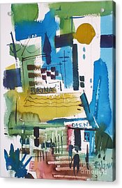 Feed Mill Acrylic Print by Micheal Jones