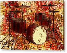 Feel The Drums Acrylic Print by Jack Zulli