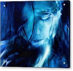 Feeling A Little Blue Acrylic Print by Gun Legler