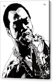 Fela Kuti Acrylic Print by Nancy Mergybrower
