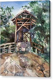 Felton Covered Bridge Acrylic Print by Susan Cafarelli Burke