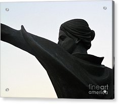 Female Educator Reaching Out Two Acrylic Print by Tina M Wenger