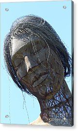 Female Sculpture On San Francisco Treasure Island 7d25445 Acrylic Print by Wingsdomain Art and Photography