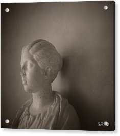 Female Statue With Broken Nose Acrylic Print by Beverly Brown Prints